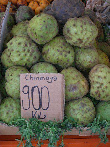 Exotische Früchte: chirimoya
