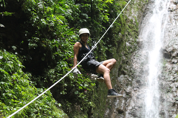 Rappel in one of the waterfalls around La Fortuna (Costa Rica)