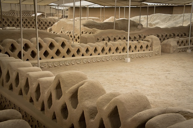 Chan Chan archeological complex in Peru