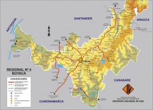 Mapa-de-carreteras-de-Boyaca