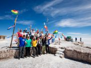 viventura Salar de Uyuni bolivia salt lake uyuni vivideo 552 - Flags of the Rally of Dakar in the Salt Flats of Uyuni, Bolivia