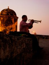 viventura Karibik cartagena,colombia,trumpet player,people,sunset,music
