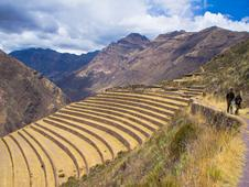 Viventura Pisac Hiking to the ruins in Pisac, Peru
