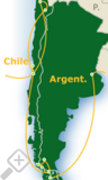 map of Chile Patagonien Argentinien